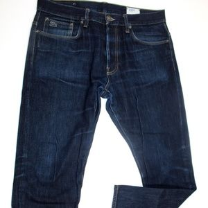 G-Star Raw 3301 Blue Button Fly Distressed Jeans